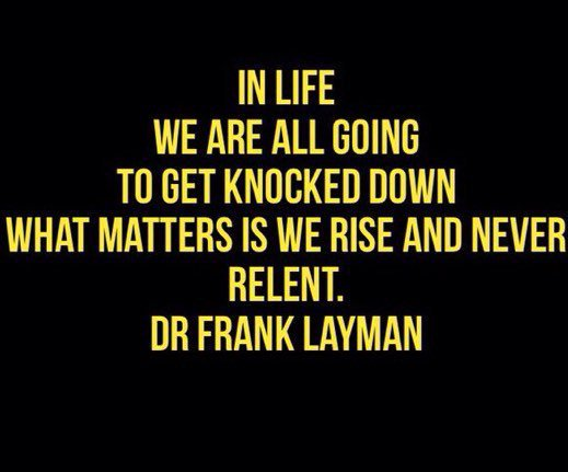 Rise. #DrFrankLayman #Win #PositiveVibes  https://t.co/csEh4dWxqa #WednesdayWisdom https://t.co/iqe1sSRVyQ