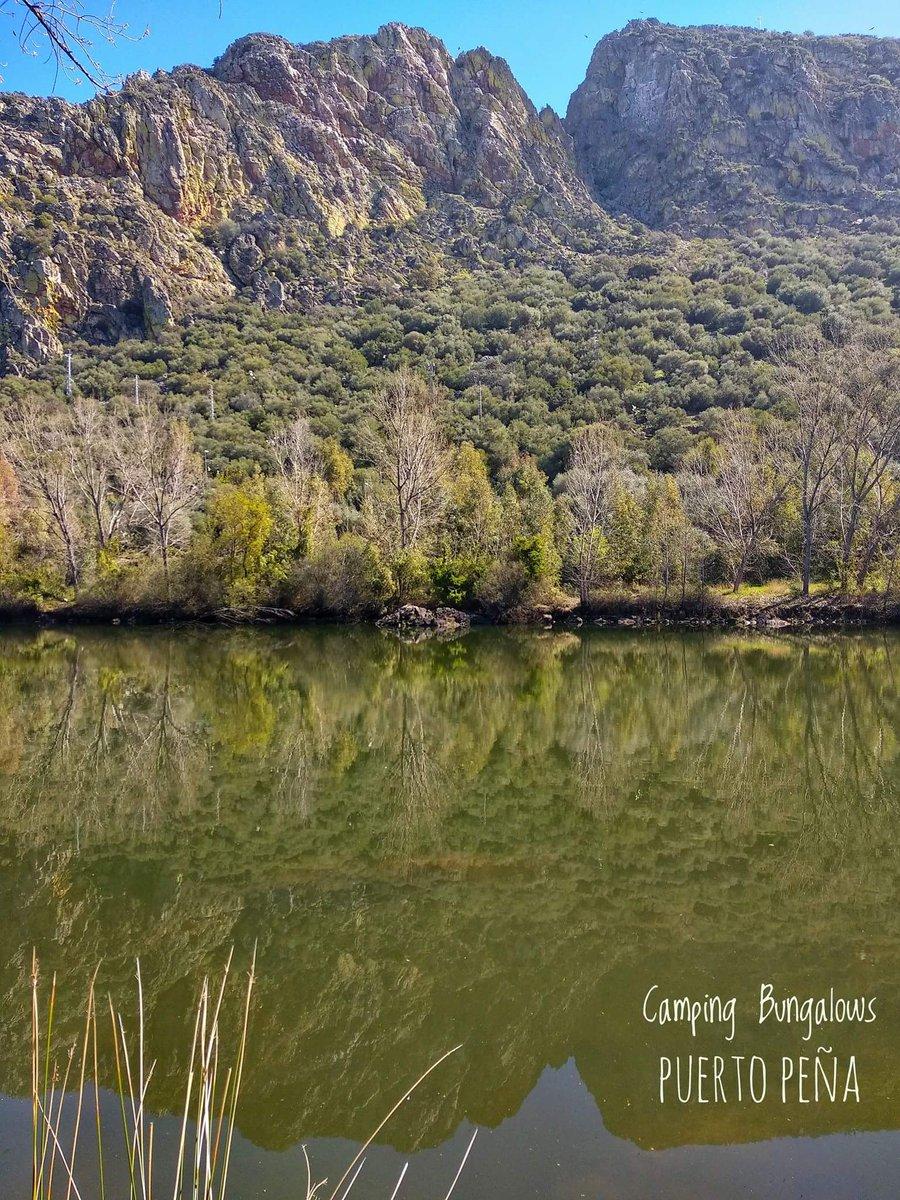 #Extremadura, paraíso natural.  Puerto Peña y el río Guadiana.  #camping #<b>Nature</b> #fishingl
