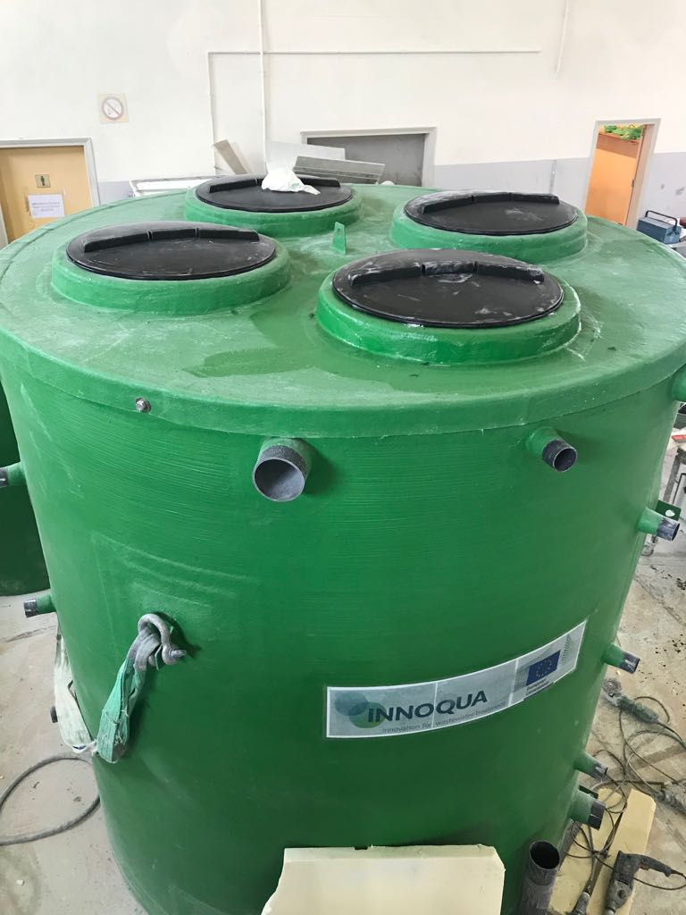 First pics of our prototype of the lumbrifilter designed by our partner INBROOLL @Hydroo_tweets Now on the the way to Ireland to be installed at the prototype site of our partner @nuigalway  #sanitation4all #wastewater treatment https://t.co/4BvCQoHzUb