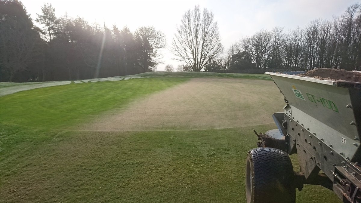 test Twitter Media - Work being carried out on the greens today via a cut, a roll, a top dress and finally a brush. Trying to level out any uneven surfaces. Some disruption may be caused. https://t.co/Rm0jJgZATm