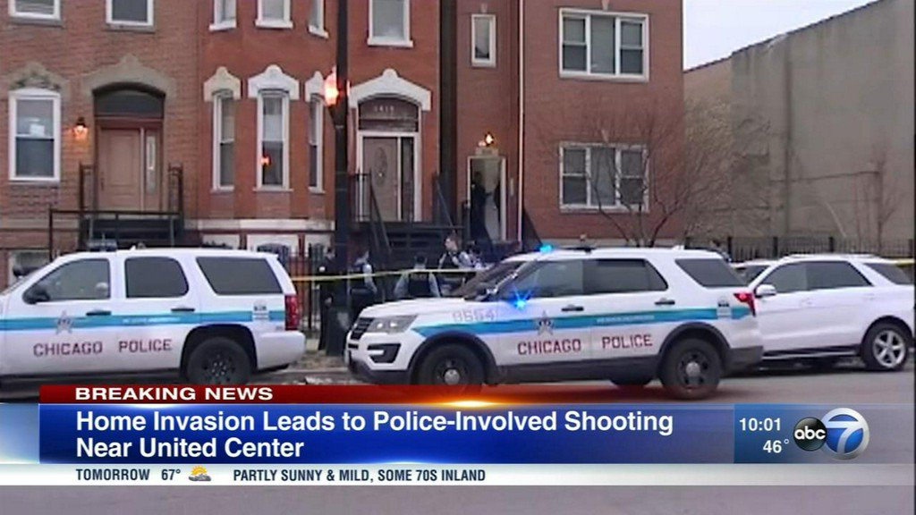Police: Man shot by officer on Near West side during apparent home invasion