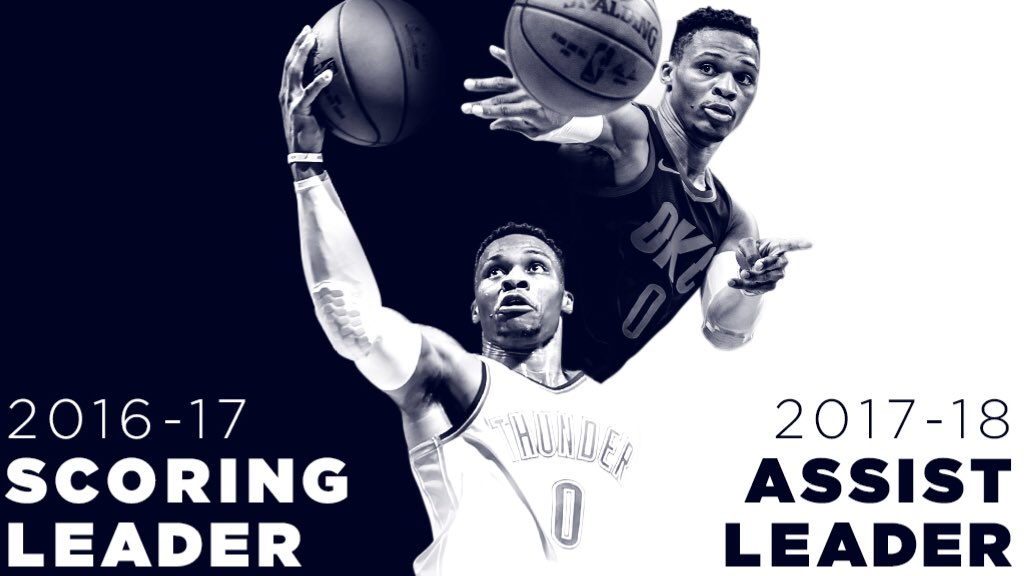 �� One more thing... First ever to win scoring title and lead NBA in assists the following season. #TheNewStandard https://t.co/SEtyv8yxcv