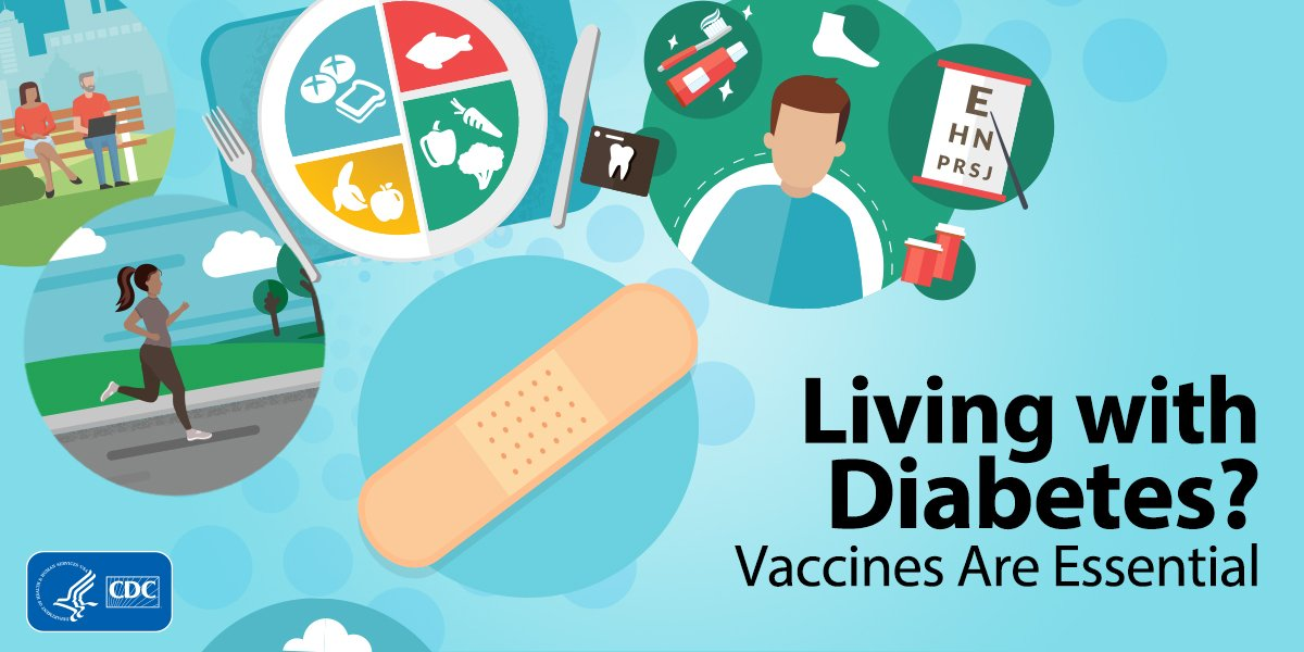 test Twitter Media - If you're living with #diabetes, you are at higher risk of serious problems from certain vaccine-preventable diseases. Learn more about #vaccines you need and get tips for staying healthy. https://t.co/u7VRmv57Jk https://t.co/1IJx0UdDqG