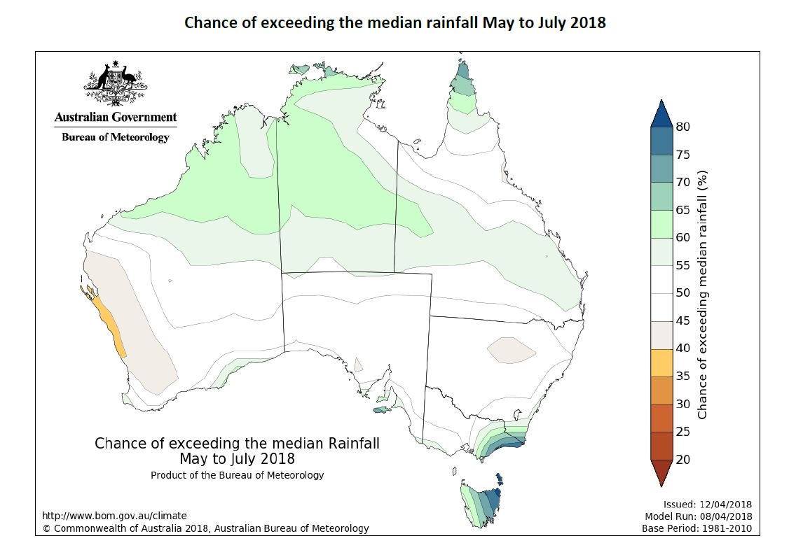 The #rainfall outlook for May to July indicates...