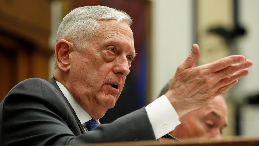 US Defence Secretary Mattis urges caution in response to Syria