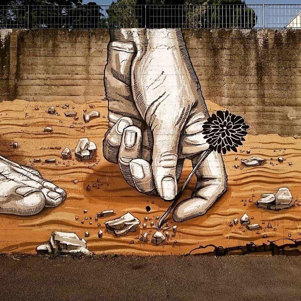 #streetart . #urbanart  By : Dome https://t.co/31I53WRE3g