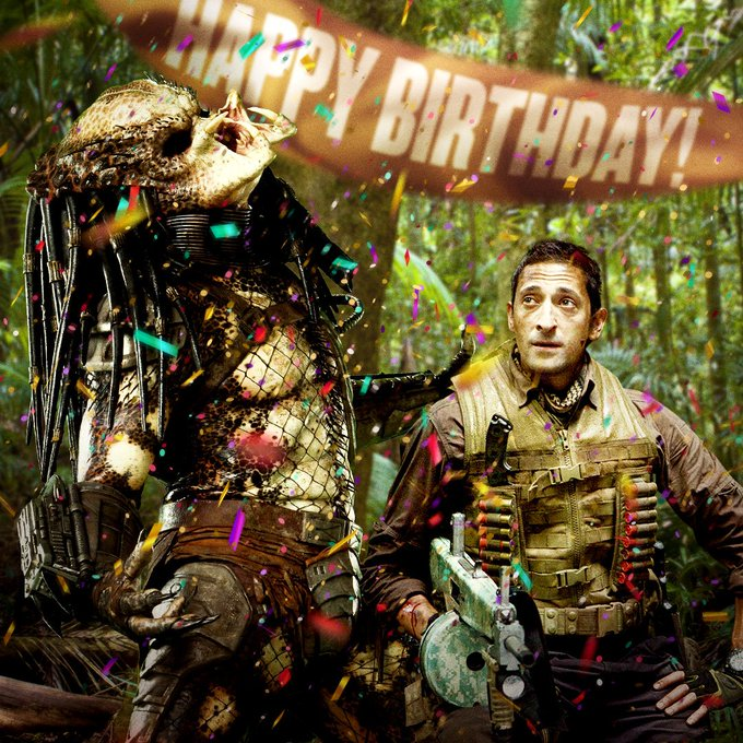 This looks like quite the party. Happy birthday Adrien Brody.