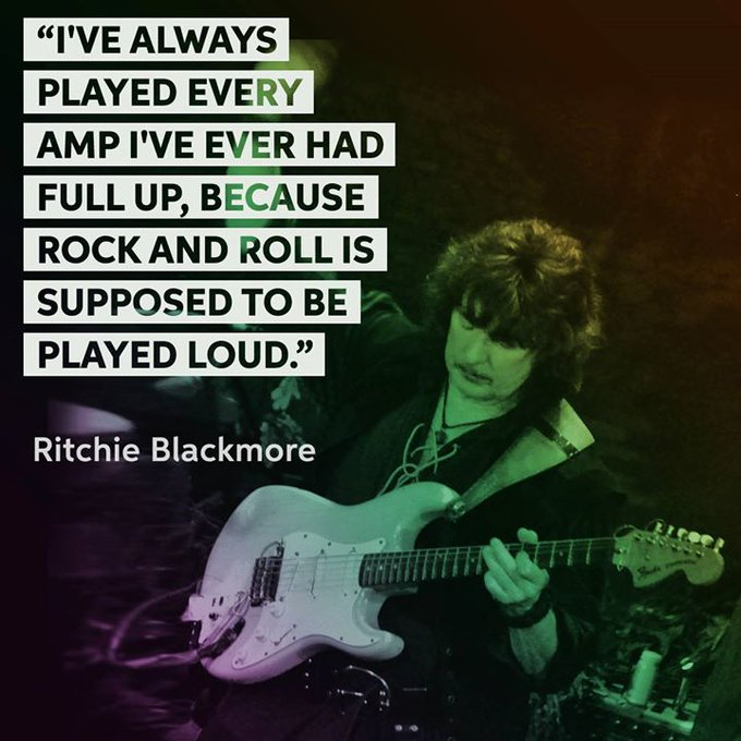 """Happy 73rd birthday to the \""""Man in Black\"""", Ritchie Blackmore!"""