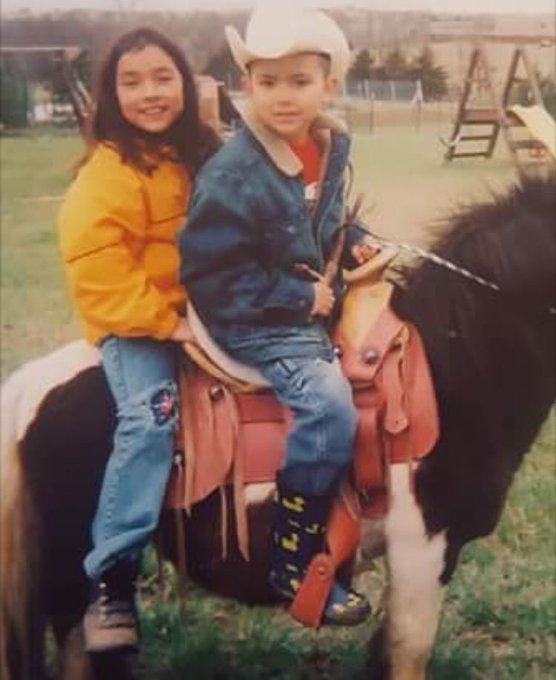 Happy 16th birthday to this cowboy!!!  (also peep a young anahi)
