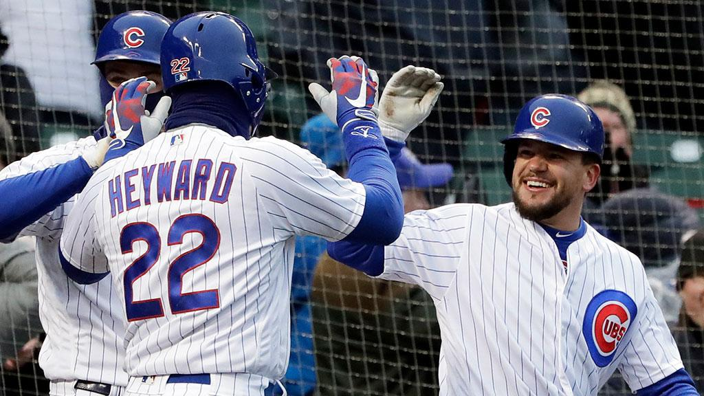 The look of a team that scored 12 unanswered runs to get the win.  ��, @Cubs. https://t.co/9hbsmVze7n