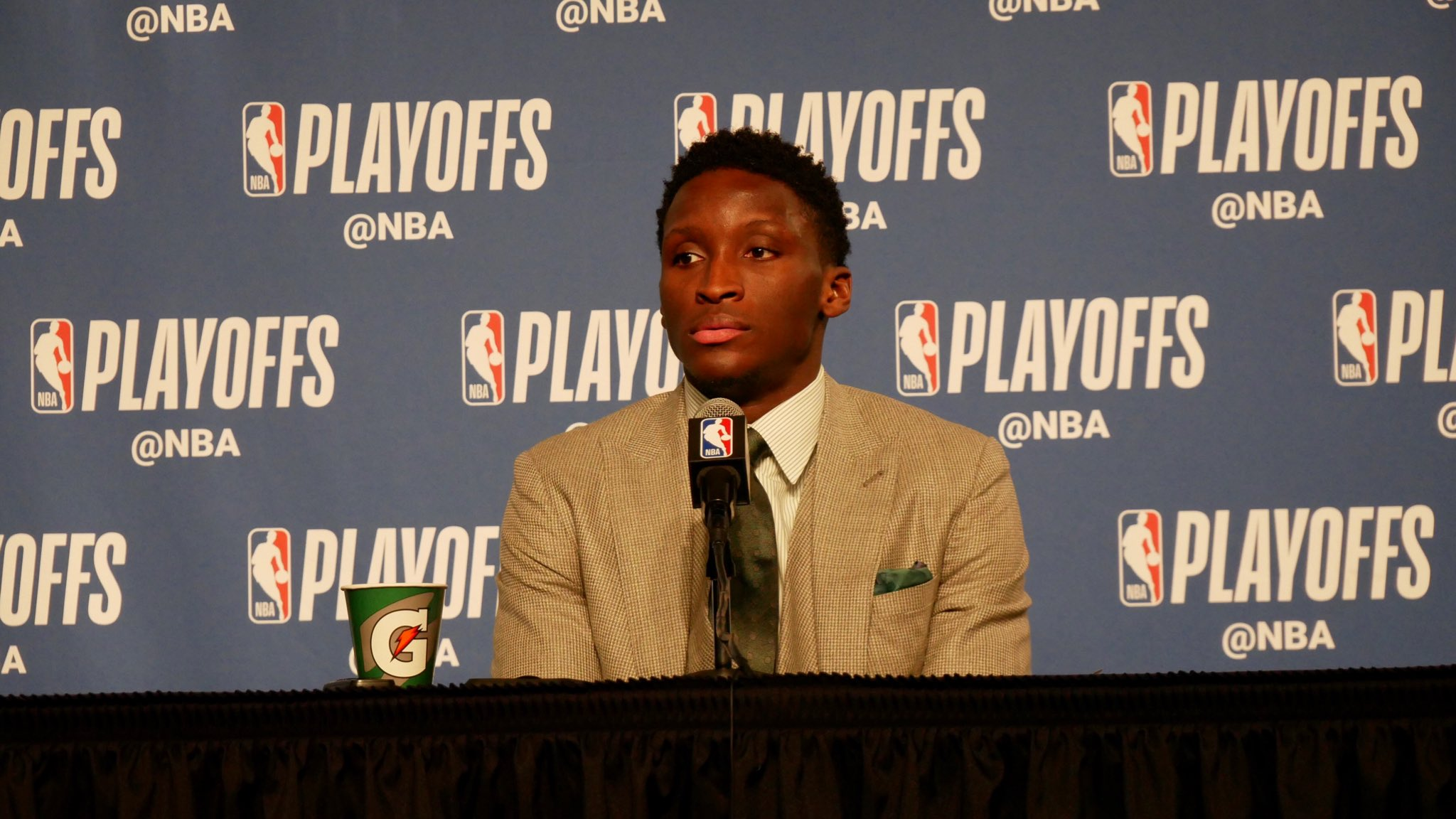 """""""Not only my teammates and my coaches believed in me. But Indiana believed in me."""" - @VicOladipo https://t.co/Gj8xrHRrIK"""