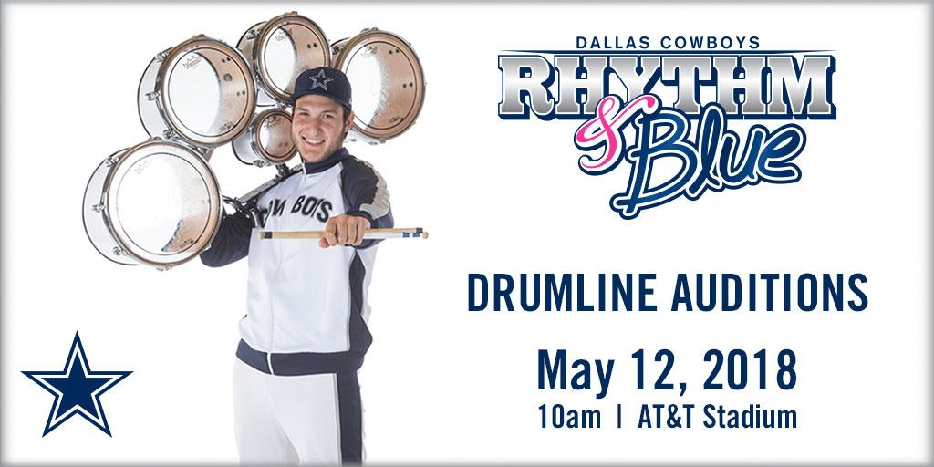 9c519e9e02f6f Be part of the Dallas Cowboys Rhythm   Blue Drumline! Auditions are on May  12th