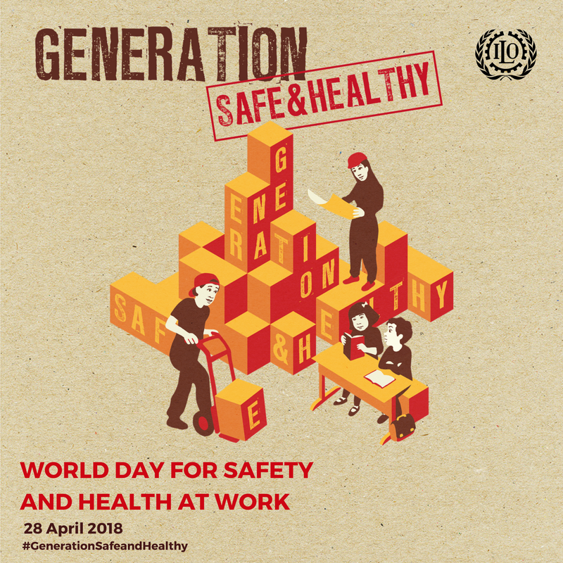test Twitter Media - World Day for Safety and Health at Work 2018 aims to promote safety and health of young workers and eradicate child labour. #GenerationSafeAndHealthy #SDG8 @ilo https://t.co/I7ycXuM6mn https://t.co/Ftqpi2PYUn