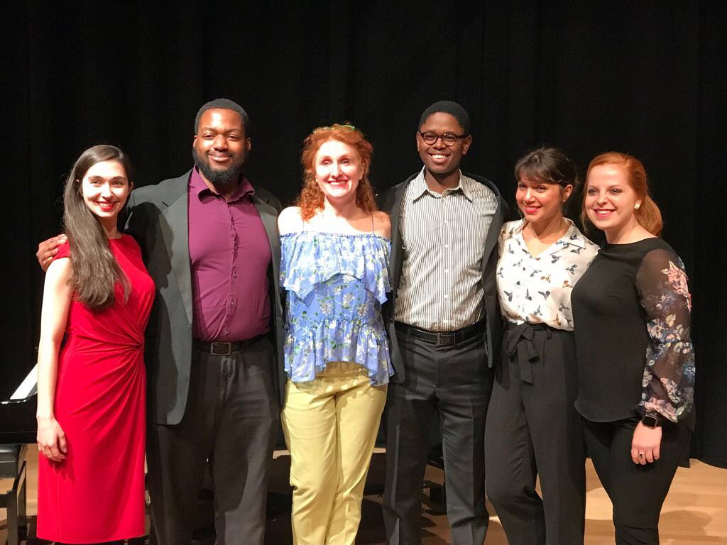 test Twitter Media - At my @TheDallasOpera masterclass, with their talented outreach singers, Alissa Roca, Malcolm Payne Jr., me, Lengelihle Mngxati, Farah Padamsee and Courtney Stancil - great job, everyone! https://t.co/iYKk6T91k6