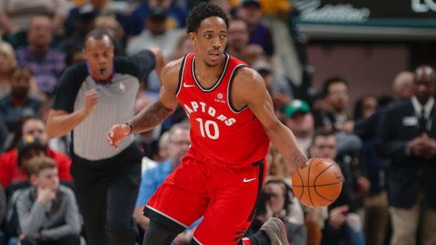 DeMar DeRozan with a playoff career-high tonight:  37 Points 5 Rebounds 4 Assists 14/23 FGM 3/6 3PM https://t.co/rRDHFvgUAV