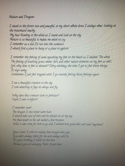 Happy birthday I wrote this poem for you