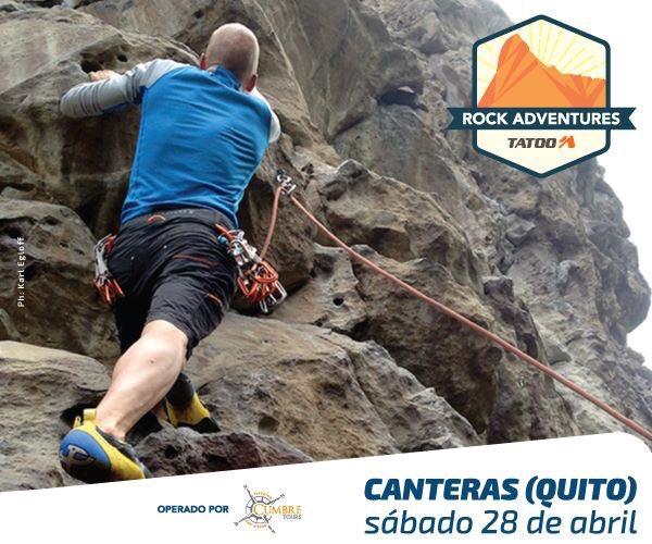 test Twitter Media - Segunda salida Rock Adventures @TatooAdventureG - Canteras, Quito sábado 28 Abril. Ideal para principiantes, nuestra primera salida a la roca. ¡Cupos Limitados! https://t.co/0A4lFl9wfz