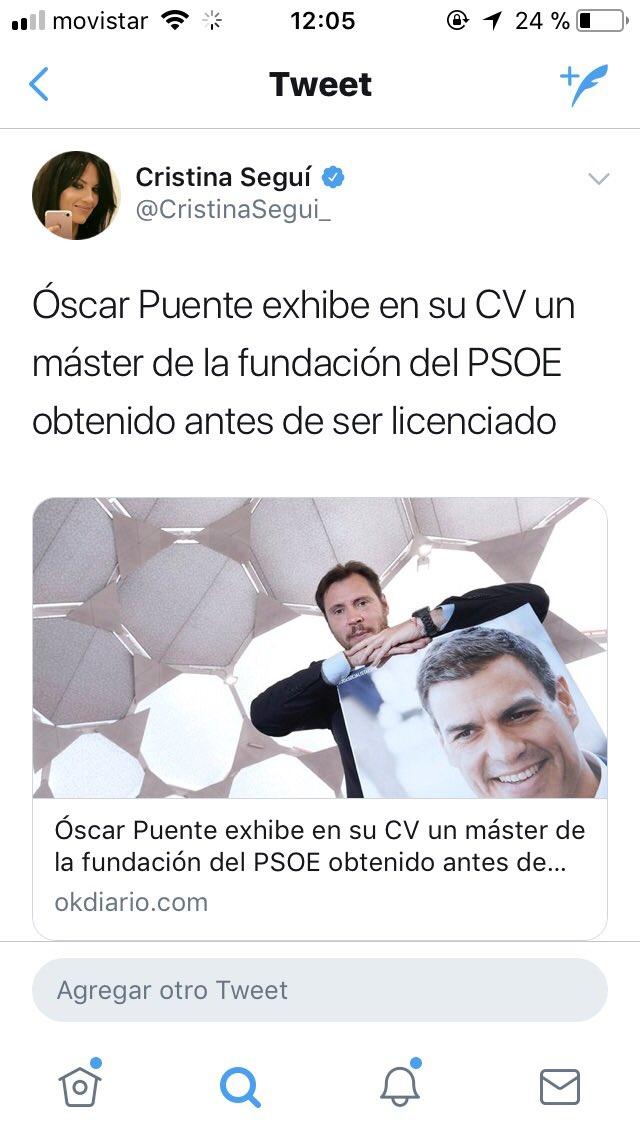 RT @CristinaSegui_: Digamos que el señor @oscar_puente_ lo lleva mal... https://t.co/yfZqrMPAQv