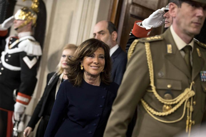 @BroadcastImagem: Presidente do Senado é escolhida para atuar em impasse político na Itália. Massimo Percossi/AP
