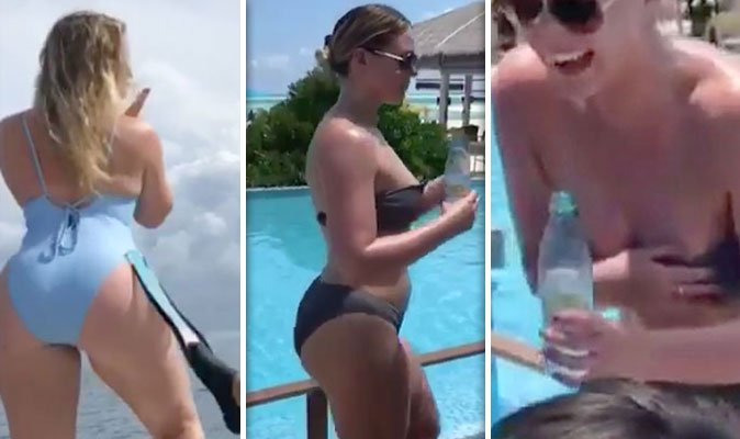 Loses her bikini top, picture bow wow naked ass
