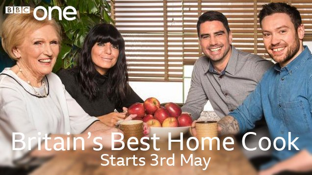 10 contestants. 3 judges. 1 Berry.  Britain's Best Home Cook lands on @BBCOne, Thursday 3rd May �� #BBHC https://t.co/e8q9S0Fhzm