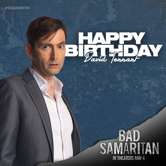 LOVED working with David Tennant on Please join me in wishing him a Happy Birthday!