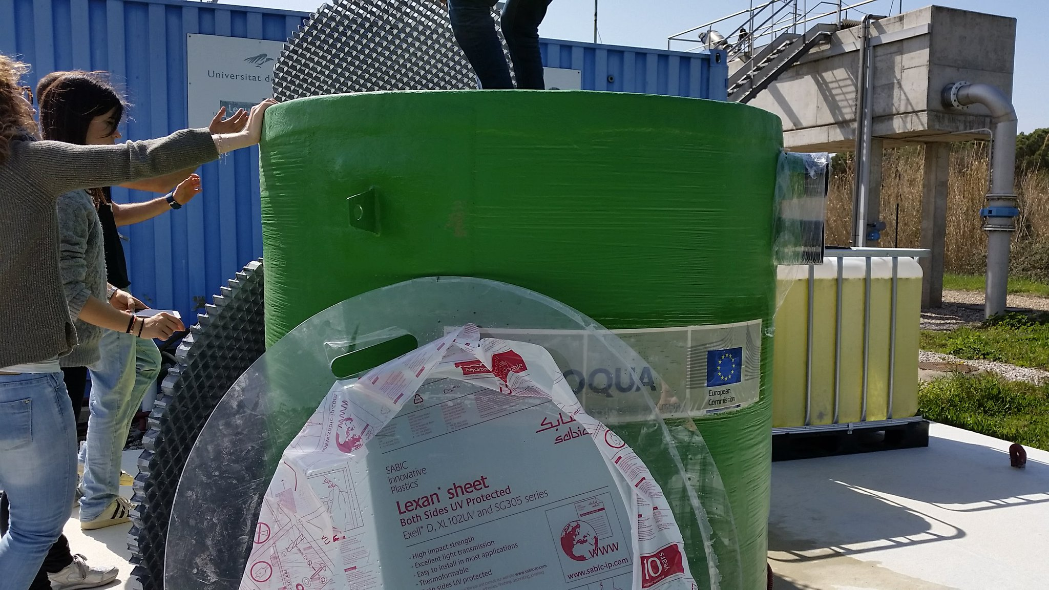 Great News. The Daphnia filter, designed and constructed by our partner @Inbrooll, is now set up at the prototype site of the @univgirona  #Horizon2020  #wastewater treatment  #sanitation4all https://t.co/4uv9CZyBlr