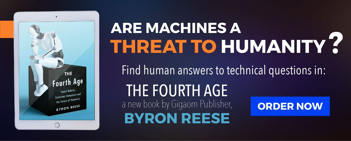 "test Twitter Media - Are Machines a Threat to Humanity? Find human answers to technical questions in ""The Fourth Age: Smart Robots, Conscious Computers and the Future of Humanity"" a new book by @gigaom publisher @byronreese & upcoming speaker @latimesfob #bookfest https://t.co/JjjXgSTtpD  #ML #Robots https://t.co/acre8r7K6m"
