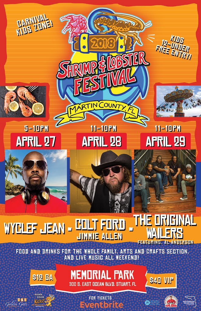 COMING UP !!! Shrimp and Lobster Festival on APRIL 27TH  Downtown Stuart ????????????????who's coming???? https://t.co/bxgAqCJkxO