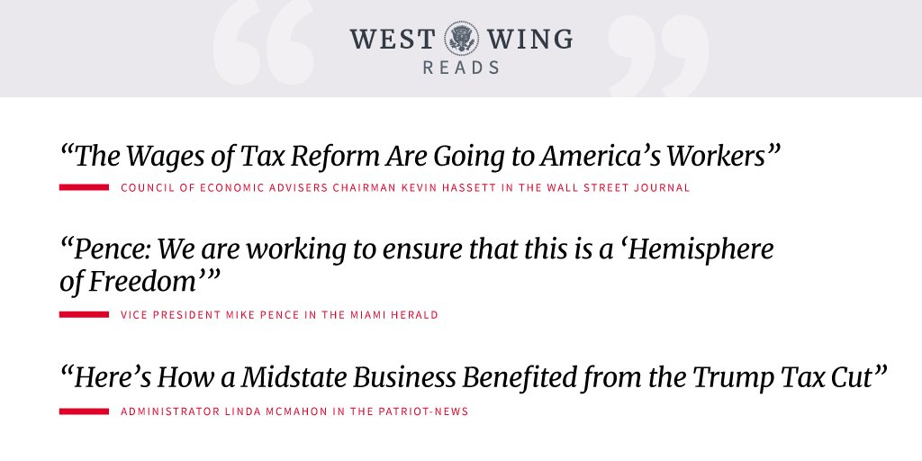 Tonight's edition of West Wing Reads: https://t.co/MgpU9Po3N4 https://t.co/DWXXhsaSfv