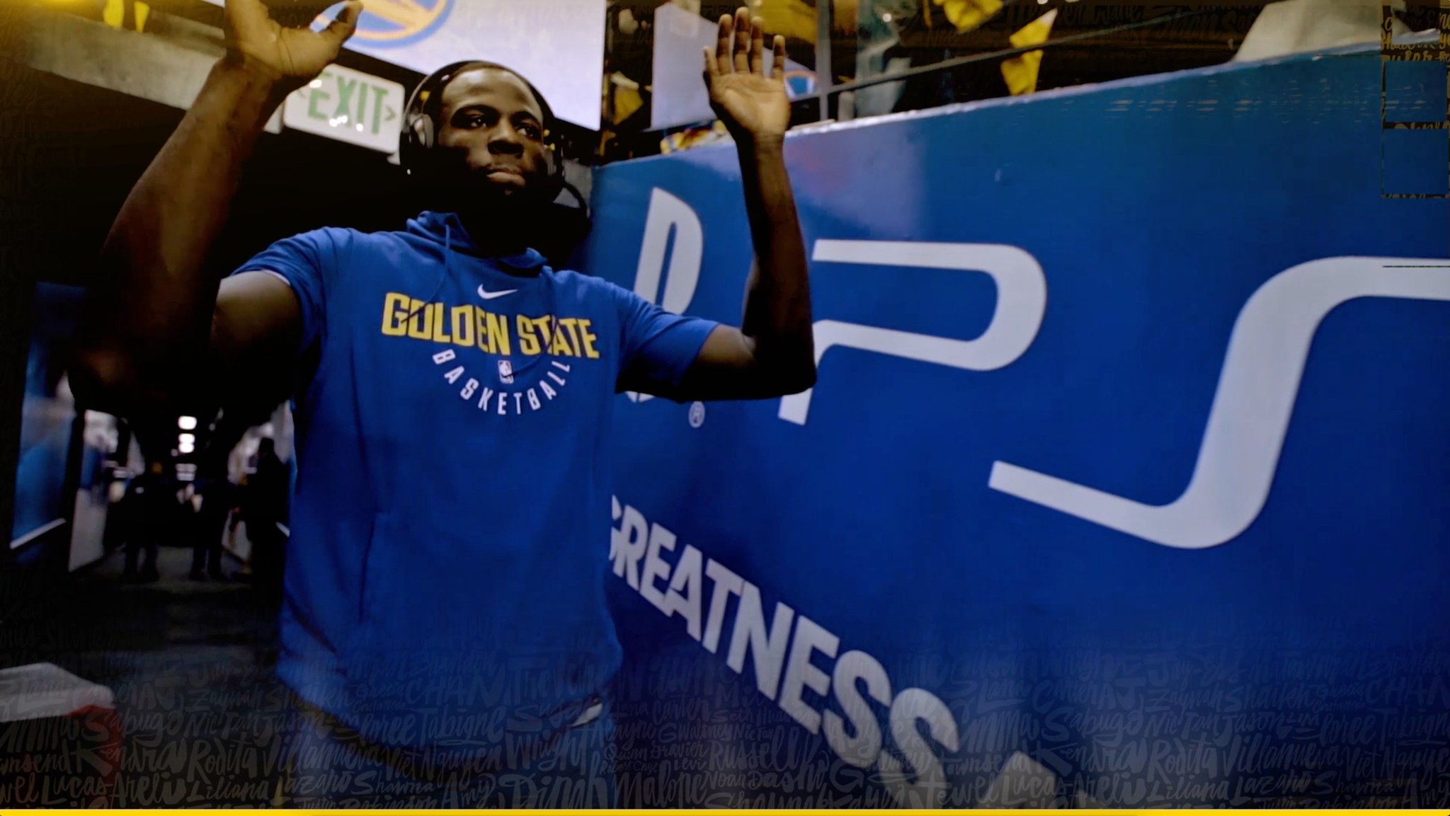 """""""Let's make sure we keep that sense of urgency, we keep playing with that edge."""" - Draymond Green #StrengthInNumbers https://t.co/wUmmRryLNs"""