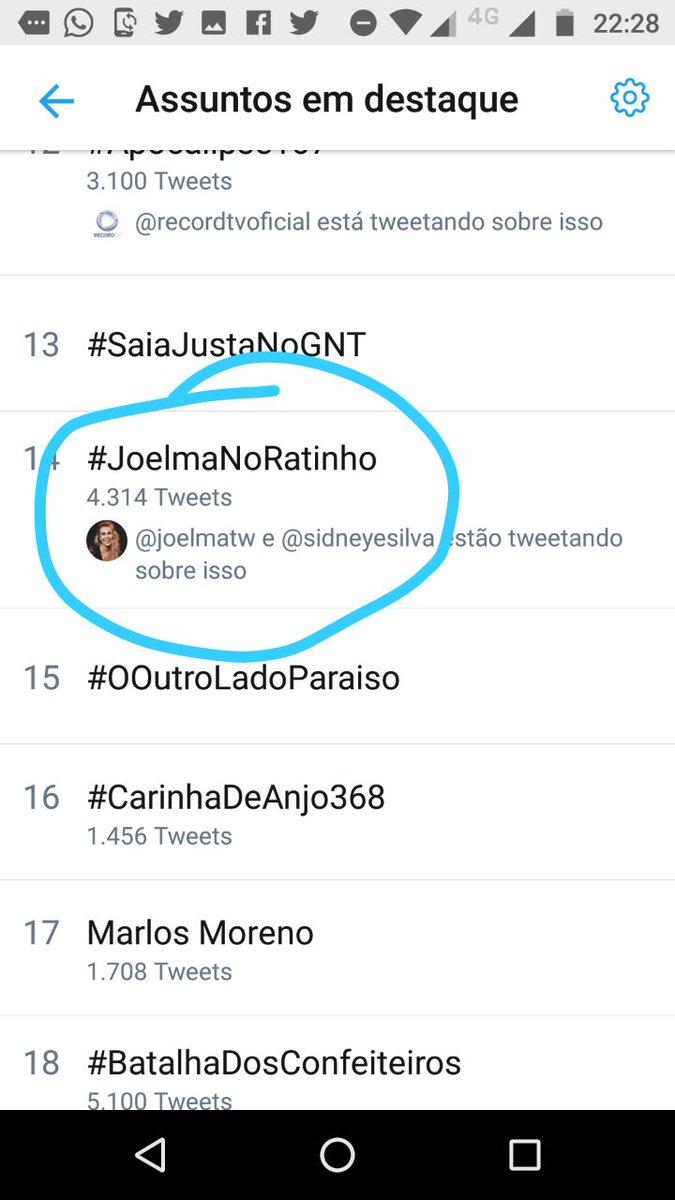 #JoelmaNoRatinho