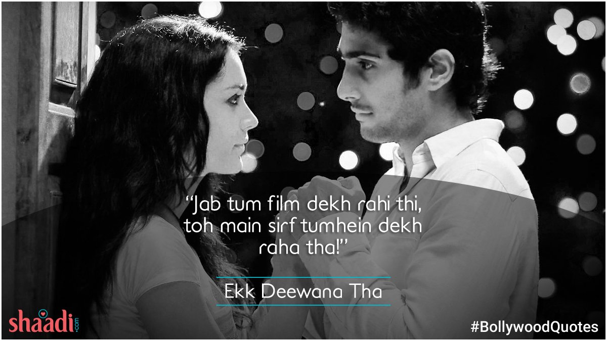 test Twitter Media - When it comes to you, my eyes get stuck like glue! ;)  #EkDeewaanaTha #Bollywood #QuotesForLife https://t.co/5kF90y2SXJ