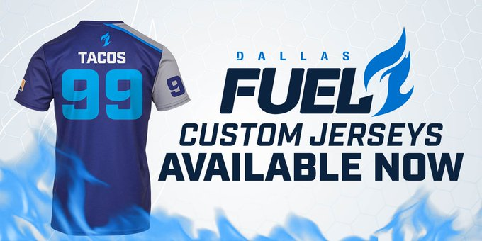 RT @DallasFuel: Custom Jerseys are now available! Design yours with what you love 🌮🌮  https://t.co/Kgb0MI9vyV https://t.co/azp64AVKQE