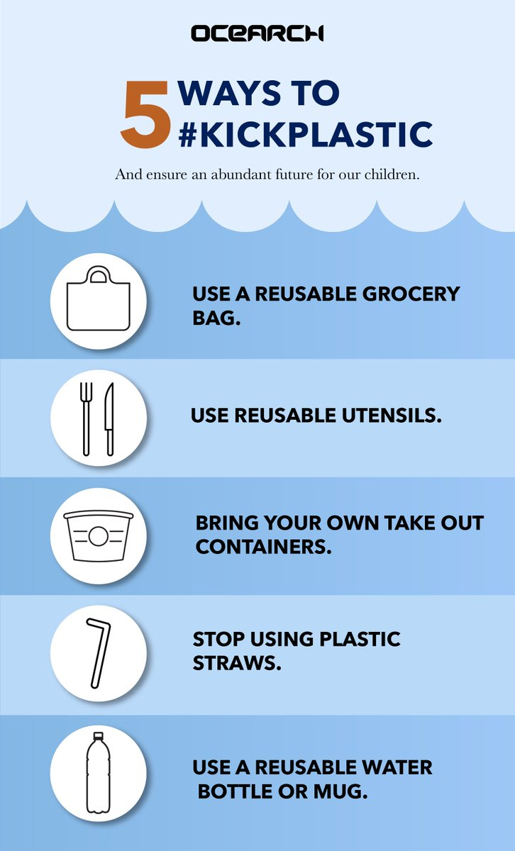 RT @OCEARCH: In the spirit of Earth Day, here are 5 easy ways to #KickPlastic https://t.co/5m6GdITzzu