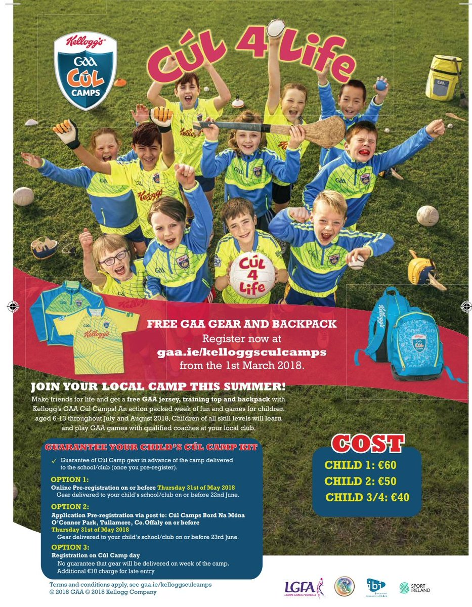 test Twitter Media - RT @Offaly_GAA: Cúl Camps book early to avoid disappointment https://t.co/ZfwJdWbh2F