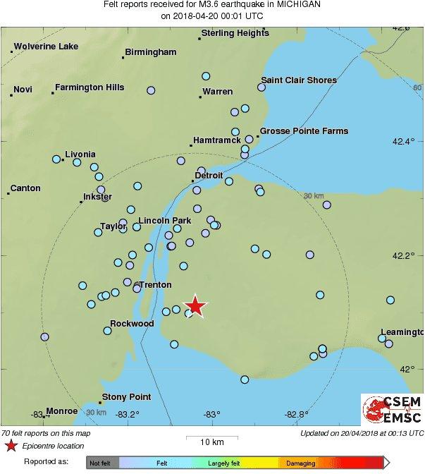 We may be hearing the first ru earthquake