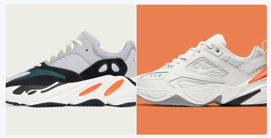 RT @TheFashionLaw: Did Nike really copy Kanye West's Yeezy  700s?https://t.co/HUh80MlpdP https://t.co/y6xVG893de