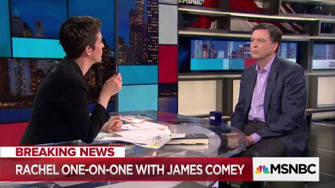 Christopher Steele 'was considered a reliable person by the FBI.'  – James Comey tells @maddow https://t.co/hjerMCc5Cn