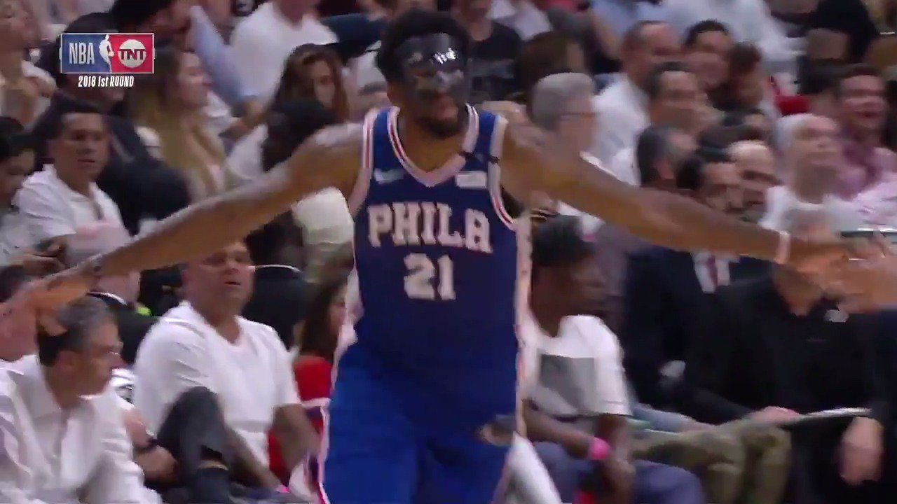 The Process returns and helps Philly to a 128-108 win over the Heat  Embiid:  23 PTS (3-4  3PT) 7 REB 4 AST https://t.co/IrPDZzp9Sy