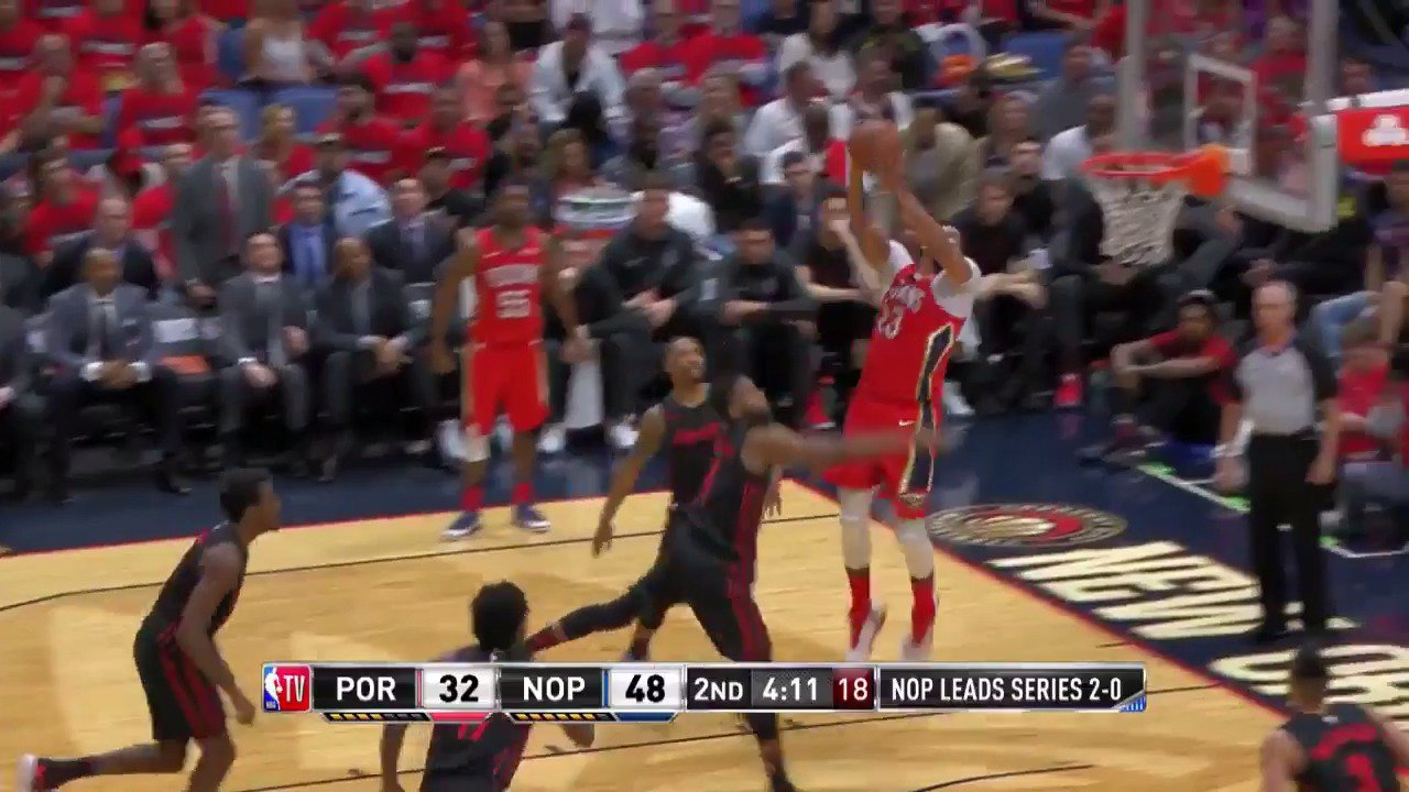 Anthony Davis soaring! ��  @PelicansNBA up 16 in the 2nd quarter on @NBATV   #DoItBigger https://t.co/hT8D48rqVy