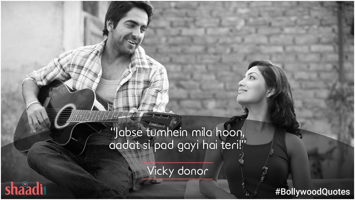 test Twitter Media - One look at you! That's all it takes to make my heartbeat faster.  #VickyDonor #Bollywood #quotes https://t.co/Rg4vv8VtDy