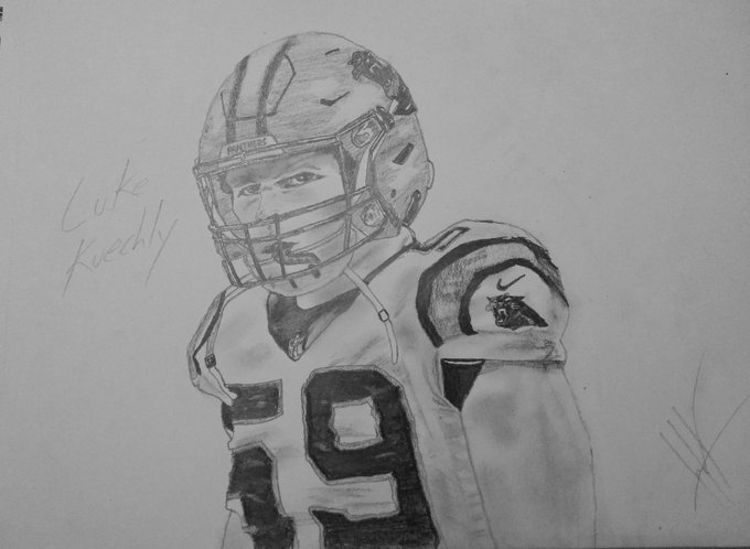Just finished this drawing of Luke Kuechly. Happy Birthday