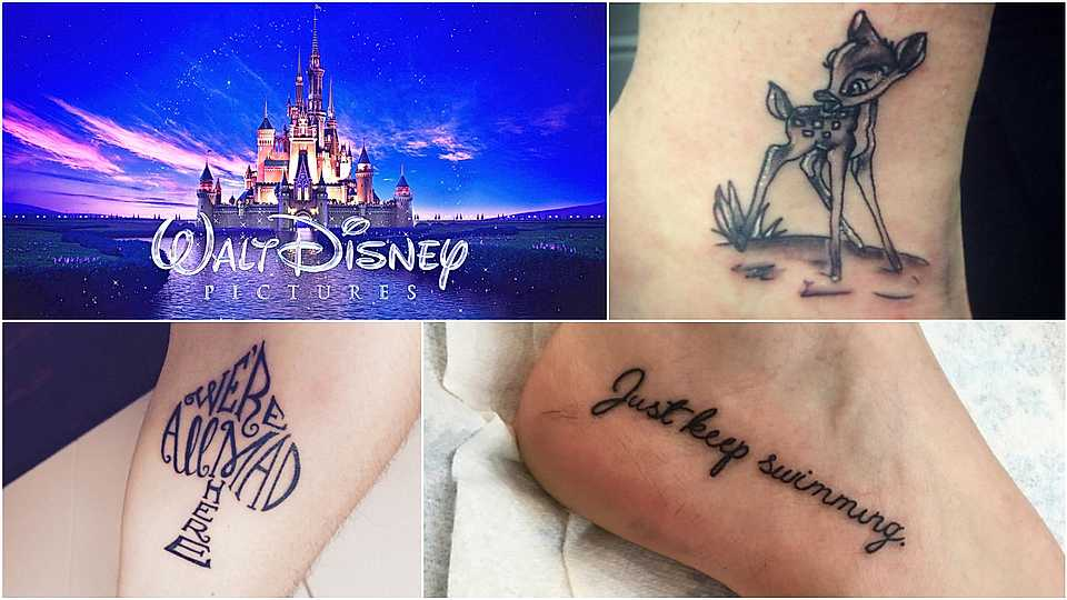 Disney lovers will absolutely LOVE these brilliant tattoos inspired by the magical