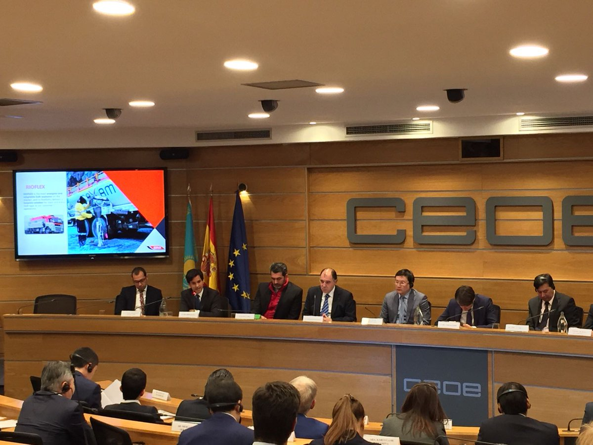Participating today at a rountable at @CEOE_ES discussing @MAXAMNet global reach and its investments in Kazajstan https://t.co/y7NK0ITo41