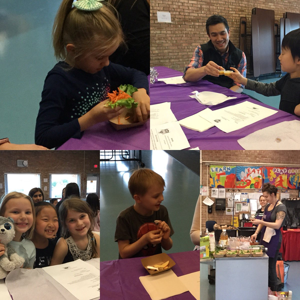 test Twitter Media - After completing their nutrition unit, 1st graders and their families enjoyed a Family Cooking night hosted by Purple Asparagus! #d30learns https://t.co/vpRP5VqsAt