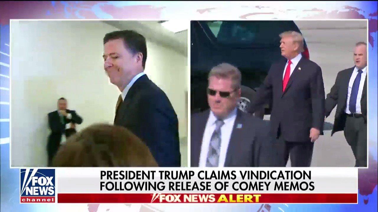 .@POTUS claims vindication following release of Comey memos. https://t.co/7l6m9OCv9K