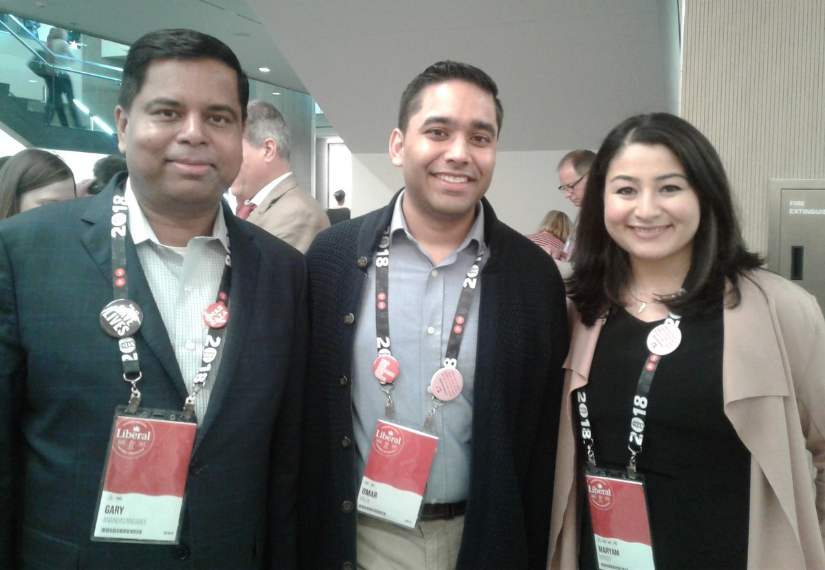 Gary Anandasangaree and I with Omar Gaza, our incoming @liberal_party National Policy Chair! #Lib2018 https://t.co/y6e3Rvq1wW