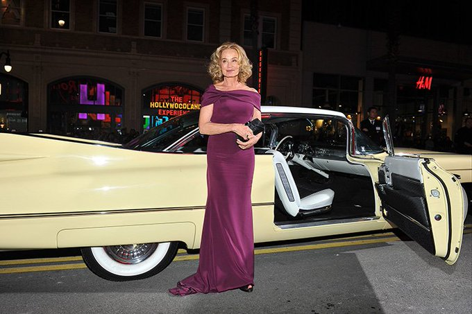 Happy birthday Jessica Lange! She\s pictured arriving in style to the premiere at the theatre last year.