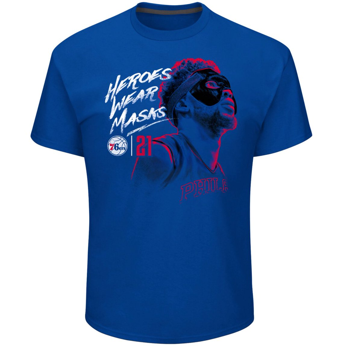 Fanatics just dropped a new Masked Embiid shirt 😂 https://t.co/vNOnD2atpp